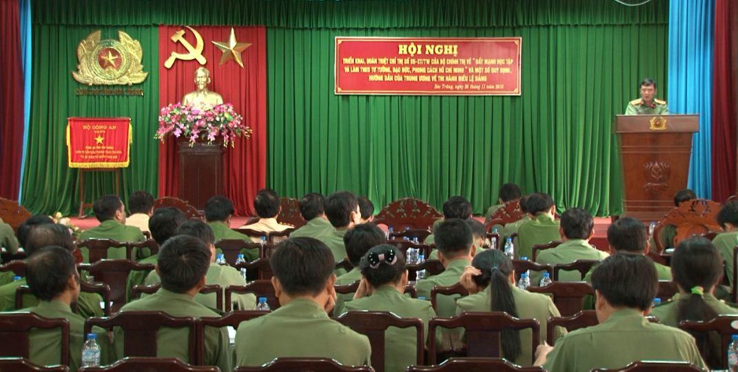 Đảng ủy Công an tỉnh Sóc Trăng tổ chức quán triệt Chỉ thị 05 của Bộ Chính trị