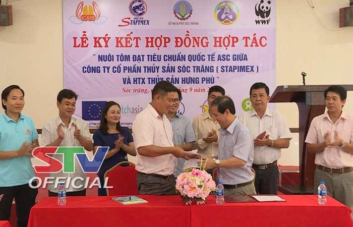 Lễ ký kết hợp đồng nuôi tôm đạt chuẩn Quốc tế ASC