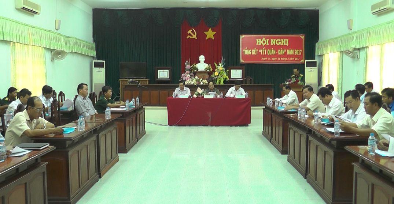 Tổng kết Tết Quân - Dân năm 2017 tại xã Lâm Tân.